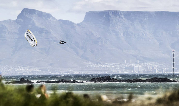 Big Bay beach is home to the local surfing and kite surfing scene with epic waves year-round