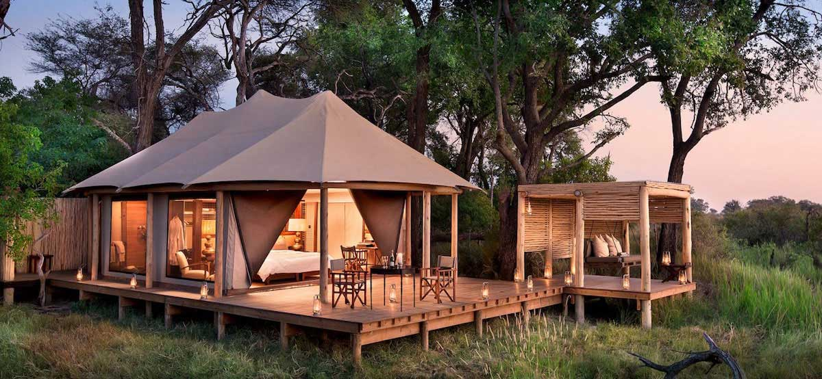Luxury accommodation is never far away in Botswana