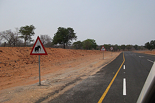 Obey the traffic signs in Botswana