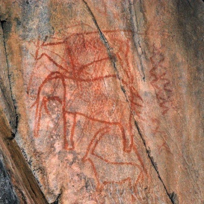The rock art at Gubatsa Hills is prolific