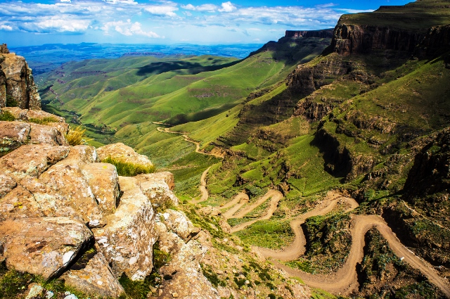 Sani Pass is a spectacular pass in the uKhahlamba-Drakensberg