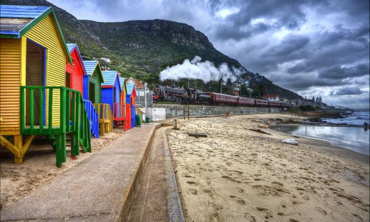 St. James beach is close to Kalk Bay and is a postcard perfect stop en-route to Kalk Bay.