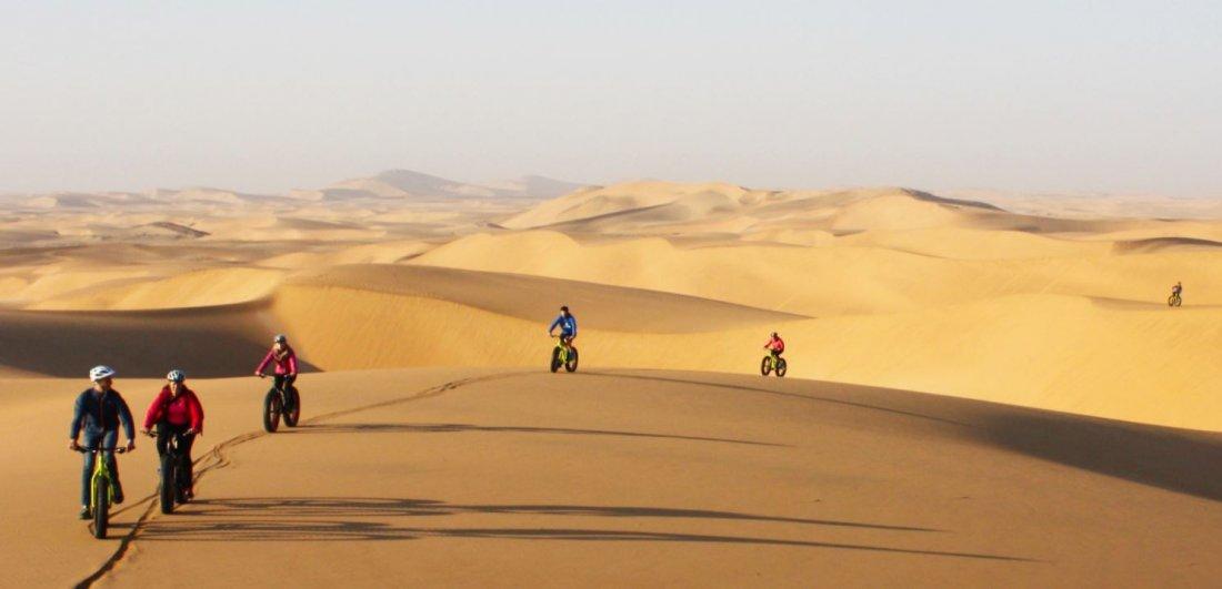 biking dunes