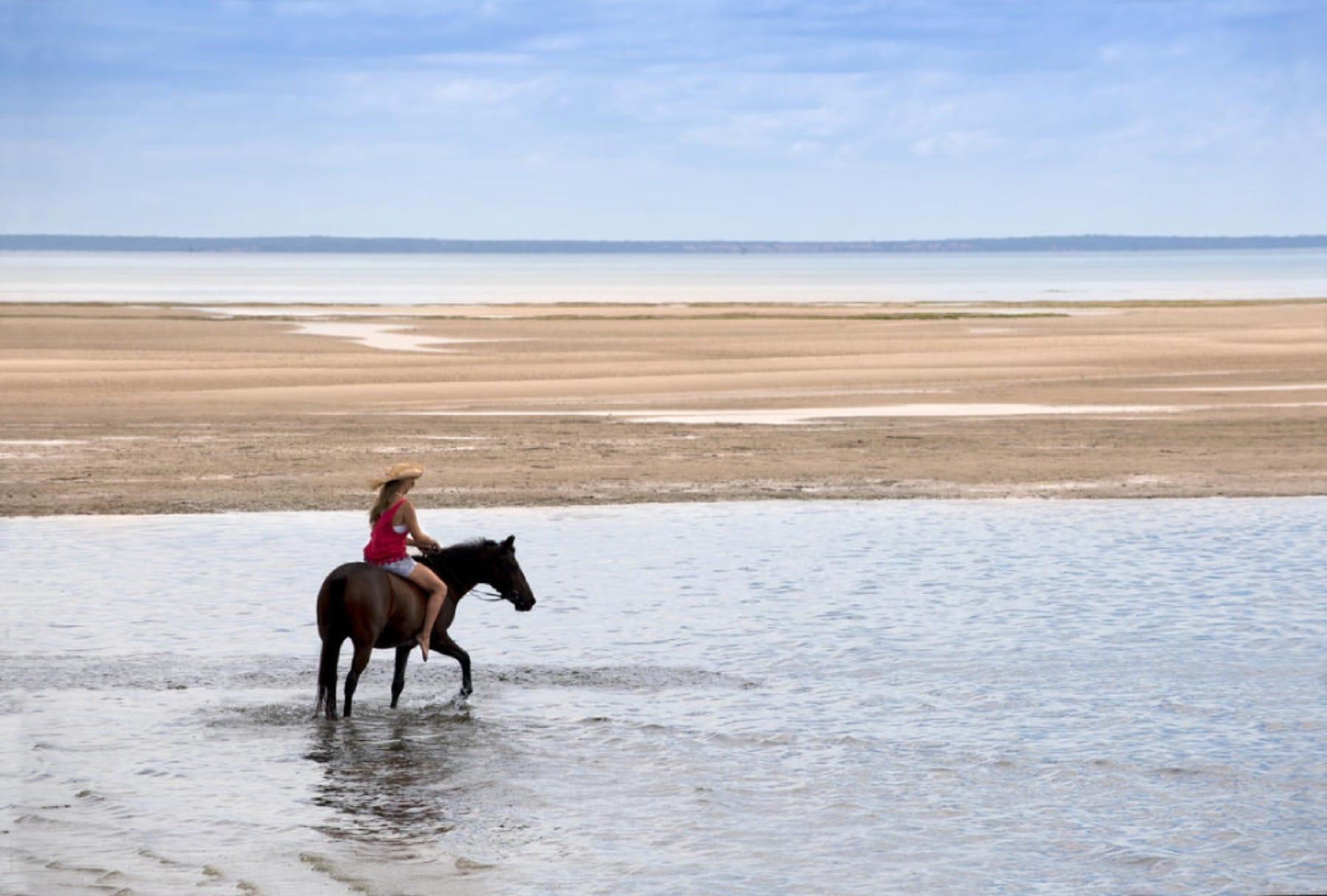 horseback beach mozambique holiday benguerra island