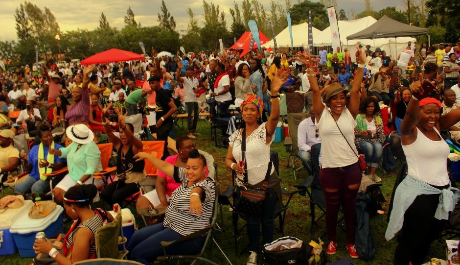 People come together at festivals and markets around Botswana