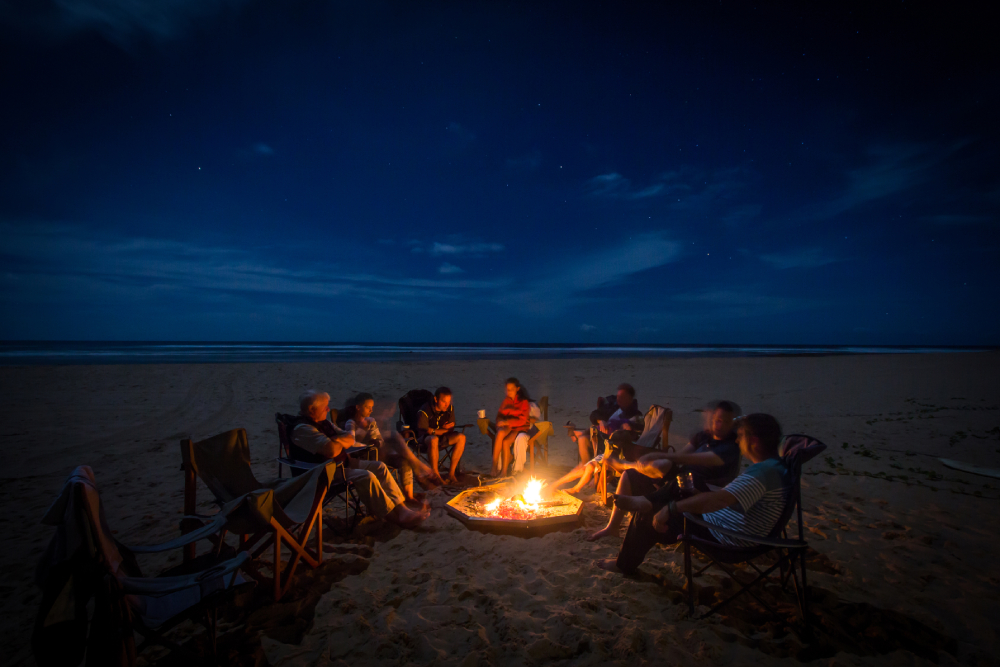 anvil bay lodge beach camp fire mozambiquq holiday
