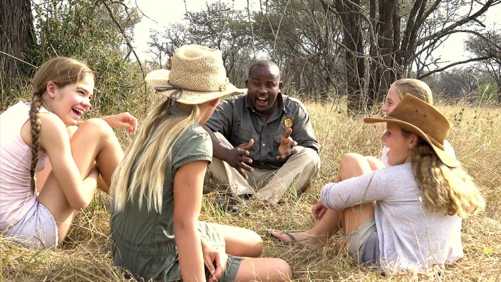 family safari in the serengeti