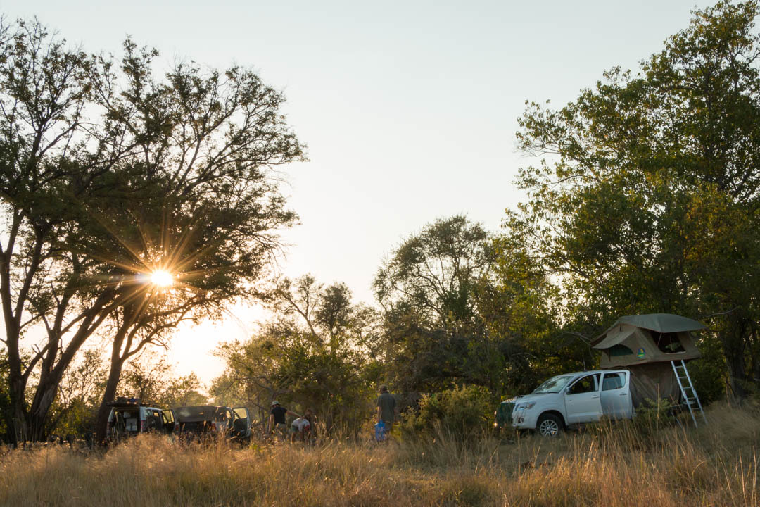 Camping is a great option in Botswana