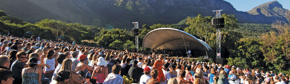 The Kirstenbosch Summer Sunset Concerts run from November to April every year  Credit: Captain Awesome