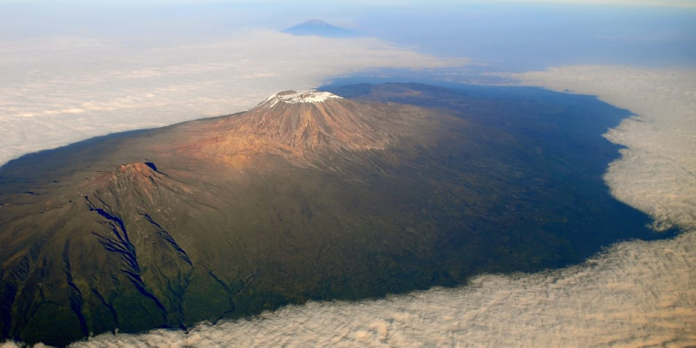 aerial view of mount kilimanjaro