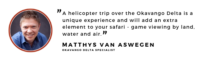 travel expert quote okavango delta