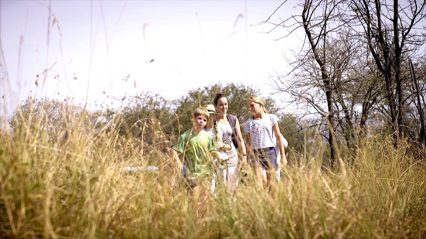 family safari ngorongoro crater bush walk