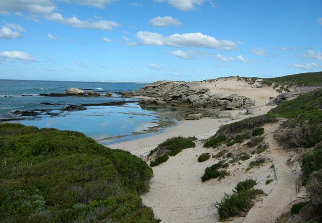 Grotto Bay is situated along the West Coast and has some easy and scenic hiking trails  Credit: SA Venues.com