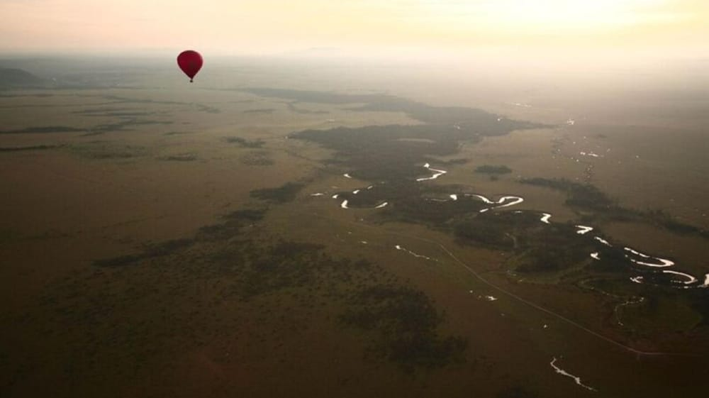 balloon safari kenya landscape