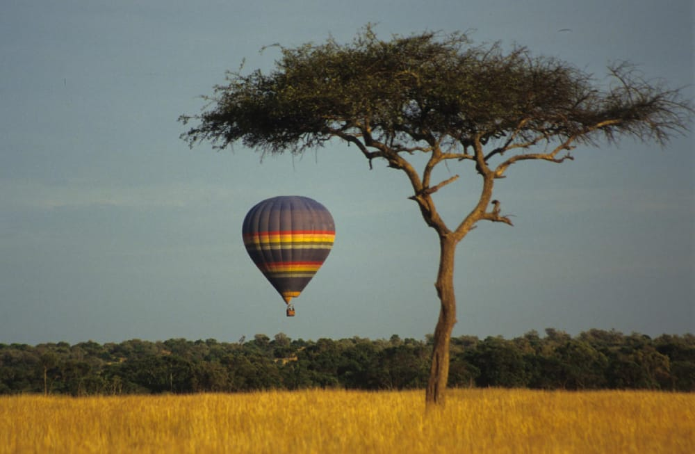 hot air ballooning in the central serengeti