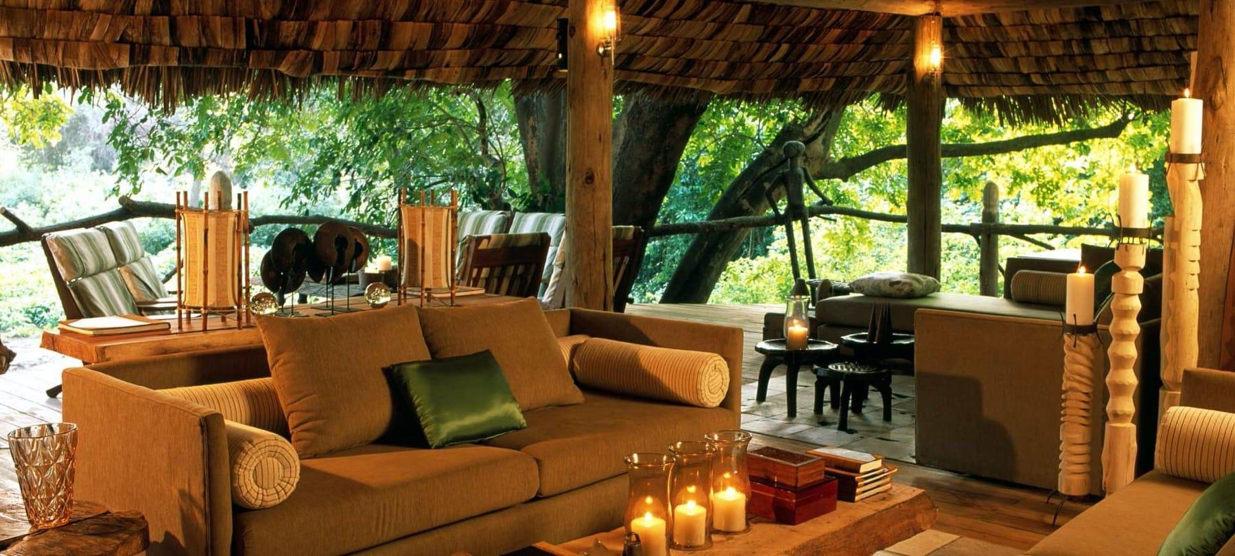 Lake Manyara Tree Lodge, interior view