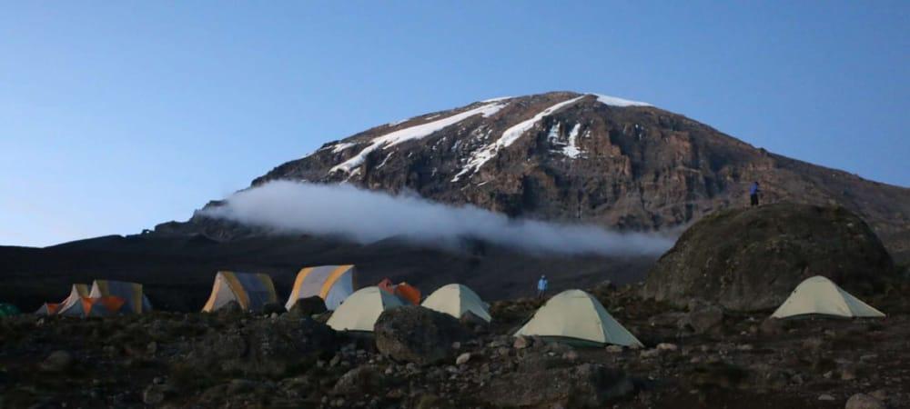 machame camp climbing kilimanjaro