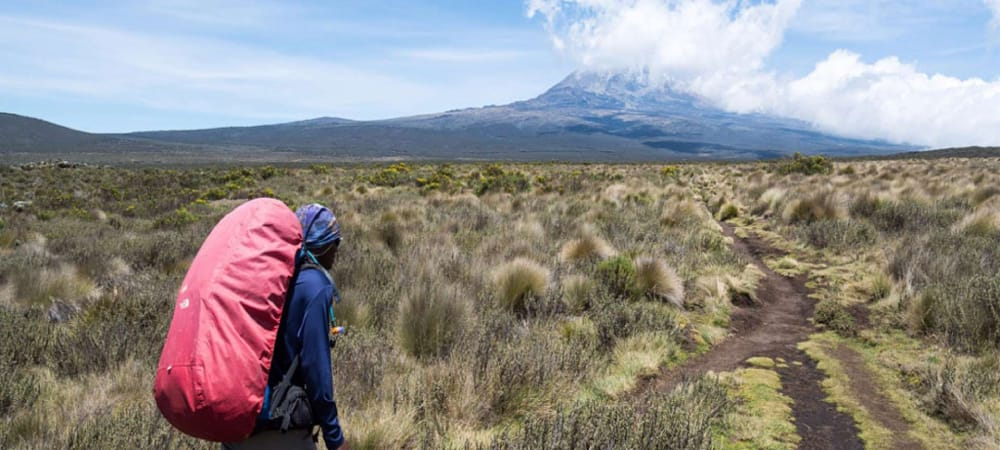hiking the machame route in mount kilimanjaro credit machame camp