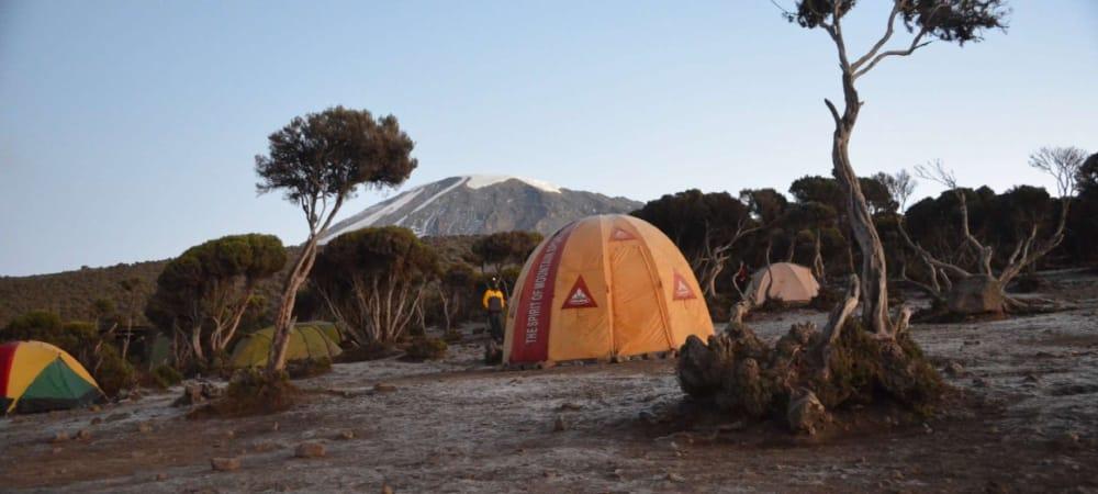 dawn on the mweka route