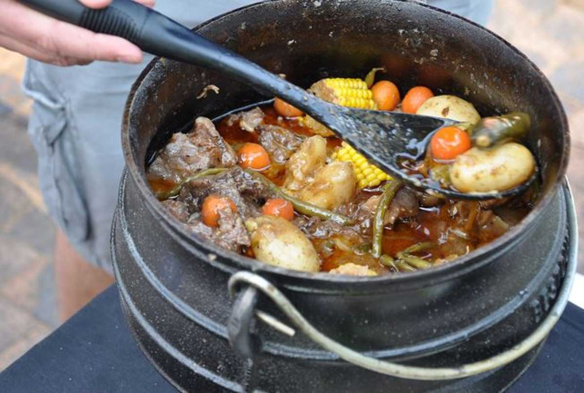 Potjiekos is similar to a stew cooked over a long period in a traditional pot (potjie), credit: Jenman Safaris