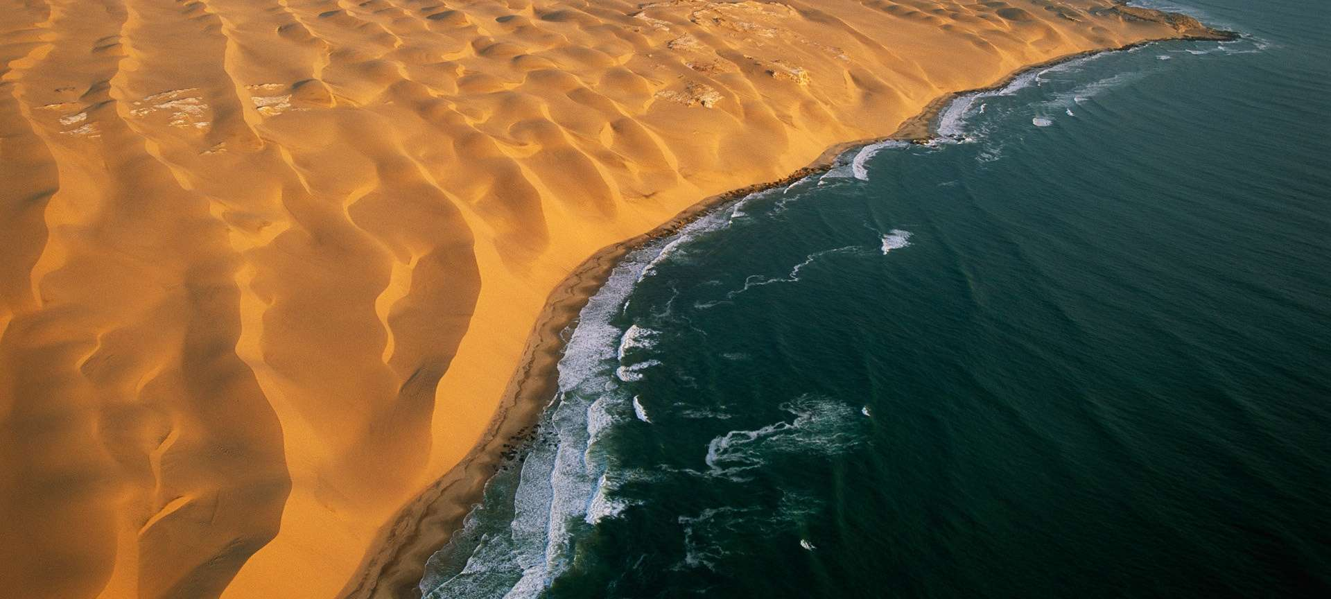 sand and sea in namibia