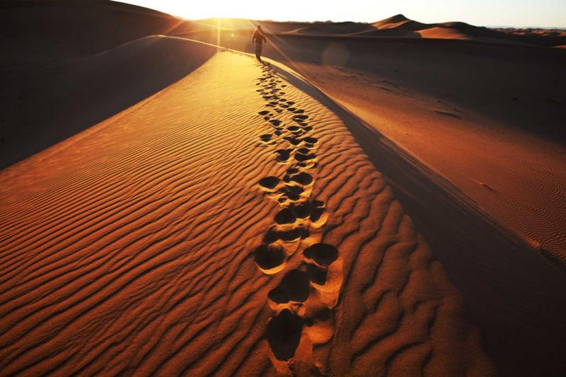 Explore Namibia's famous dunes on foot and experience the magic of the landscapes, credit: Zicasso