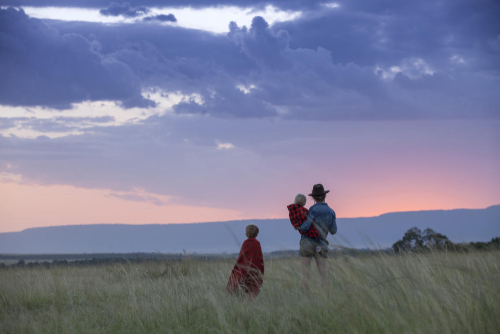 sunset in the masai mara