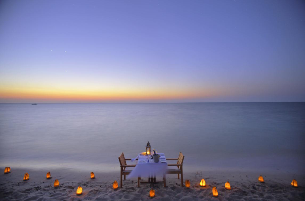 mozambique honeymoon azura benguerra island beach dining