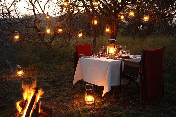 African sunsets, log fires and lanterns set the scene for the most romantic interludes, credit: Cederberg Travel