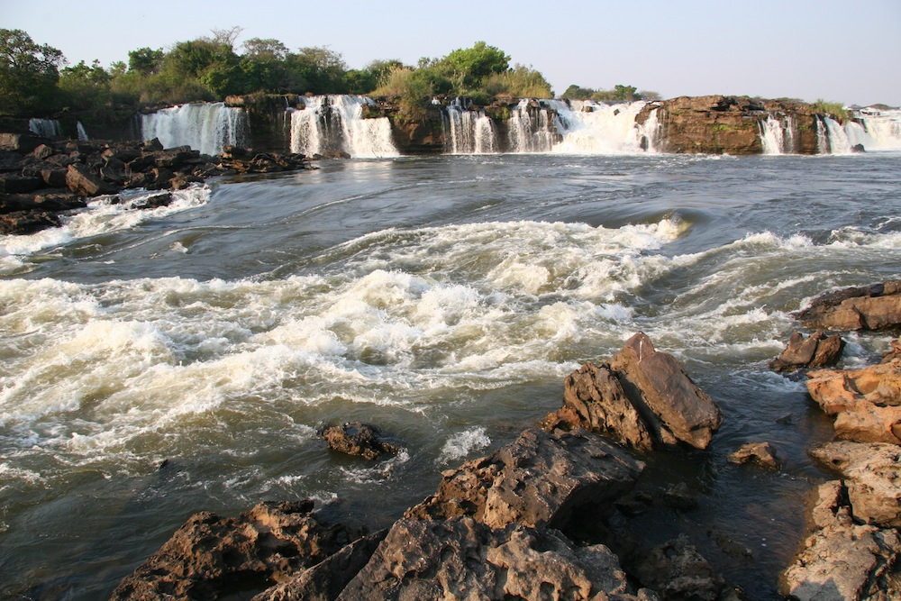 Ngonye Falls is located close to Sioma town, a few hundred kilometres upstream from Victoria Falls, in the southern part of Barotseland