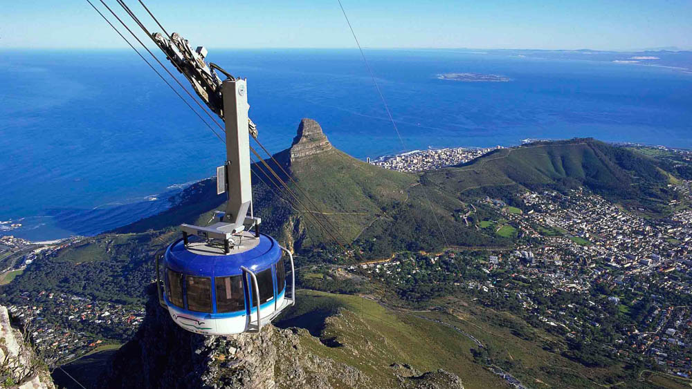 The cable car is an easier way to get to the top of the mountain for breathtaking views, alternatively a strenuous hike up is well rewarded at the top.