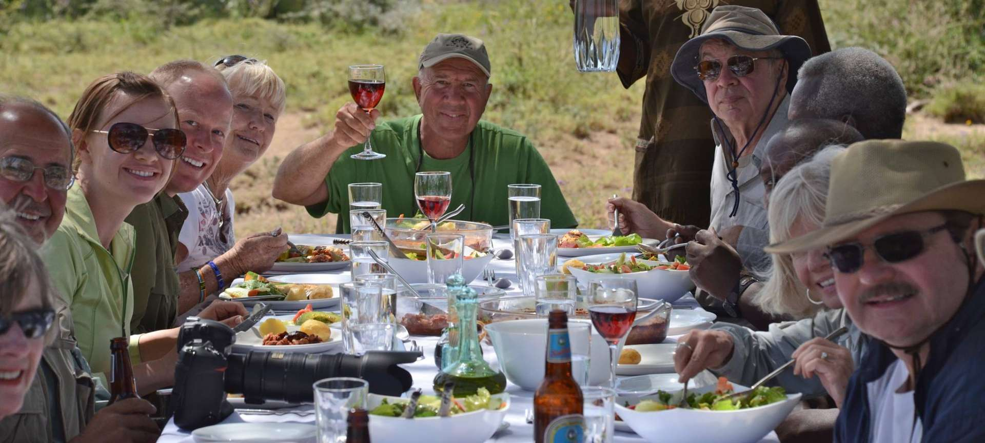 A meal in the Africa bush