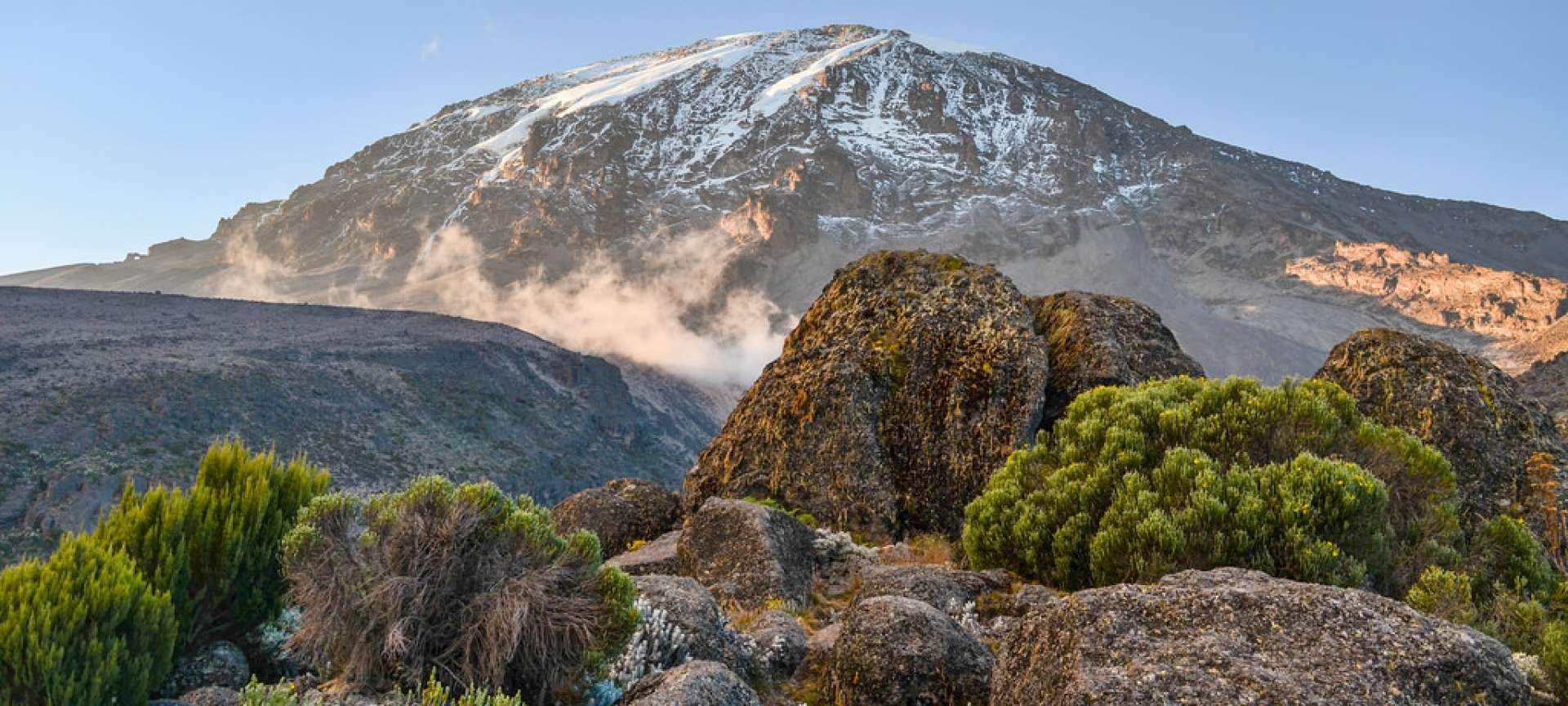 Uhuru peak is the highest part on Mount Kilimanjaro