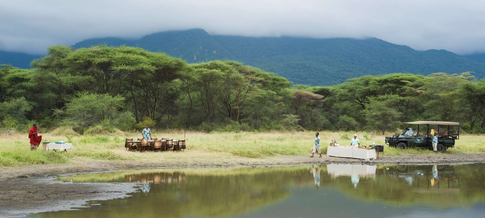 Lake Manyara is lush and green this time of the year