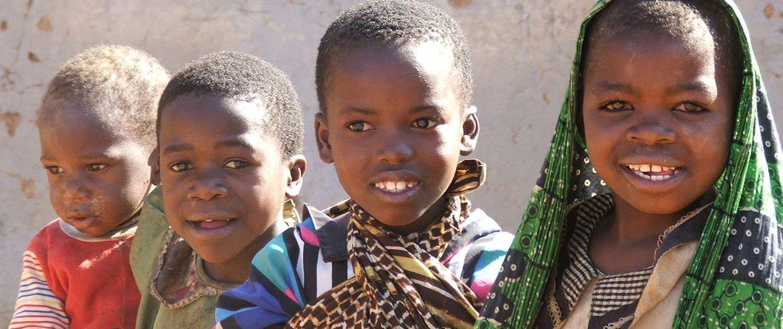 Children in a local Tanzanian village