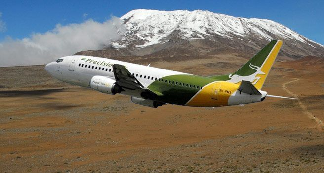 Precision Air is the most reliable option for air travel in Tanzania