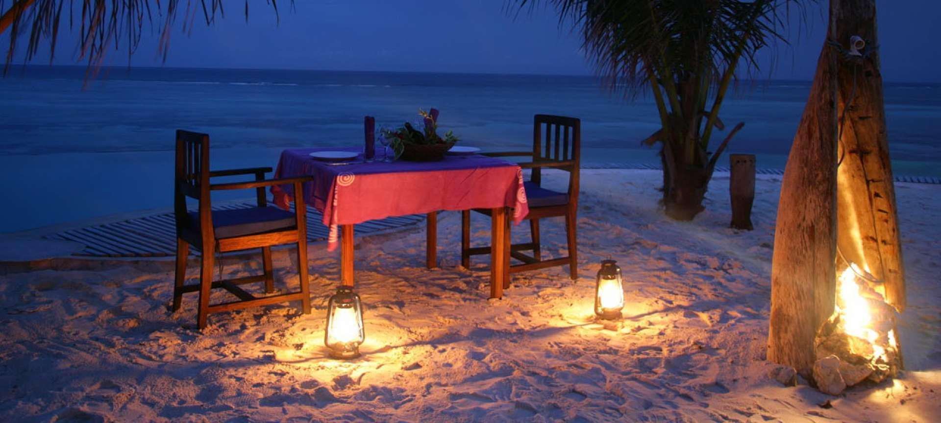 A romantic beach view