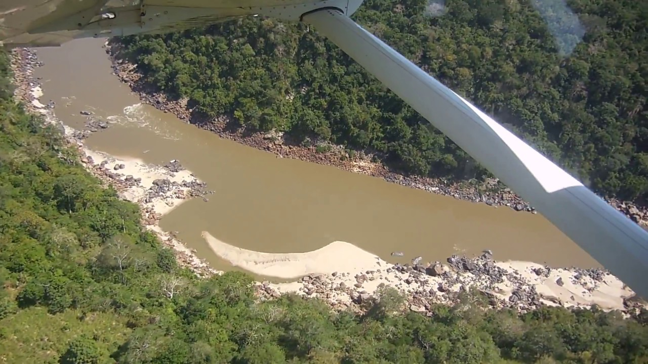 Flying over Stiegler's Gorge in Tanzania