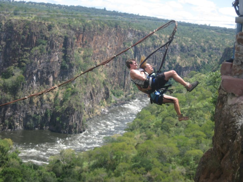 Gorge swings in Batoka Gorge are not for the faint at heart