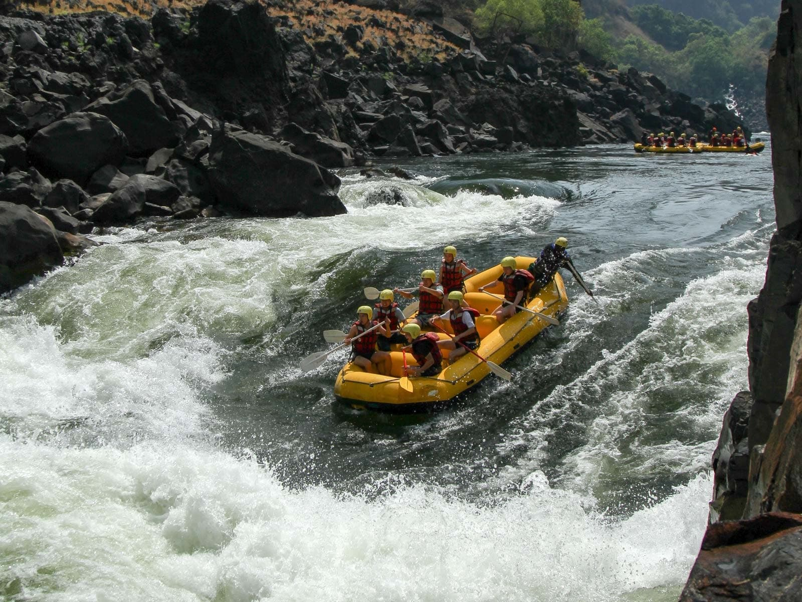 White water rafting is an adrenalin-junkie's dream