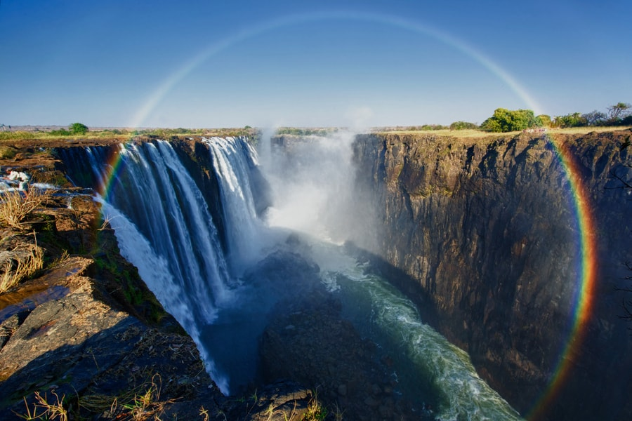 Victoria Falls is one of Africa's most spectacular natural sights