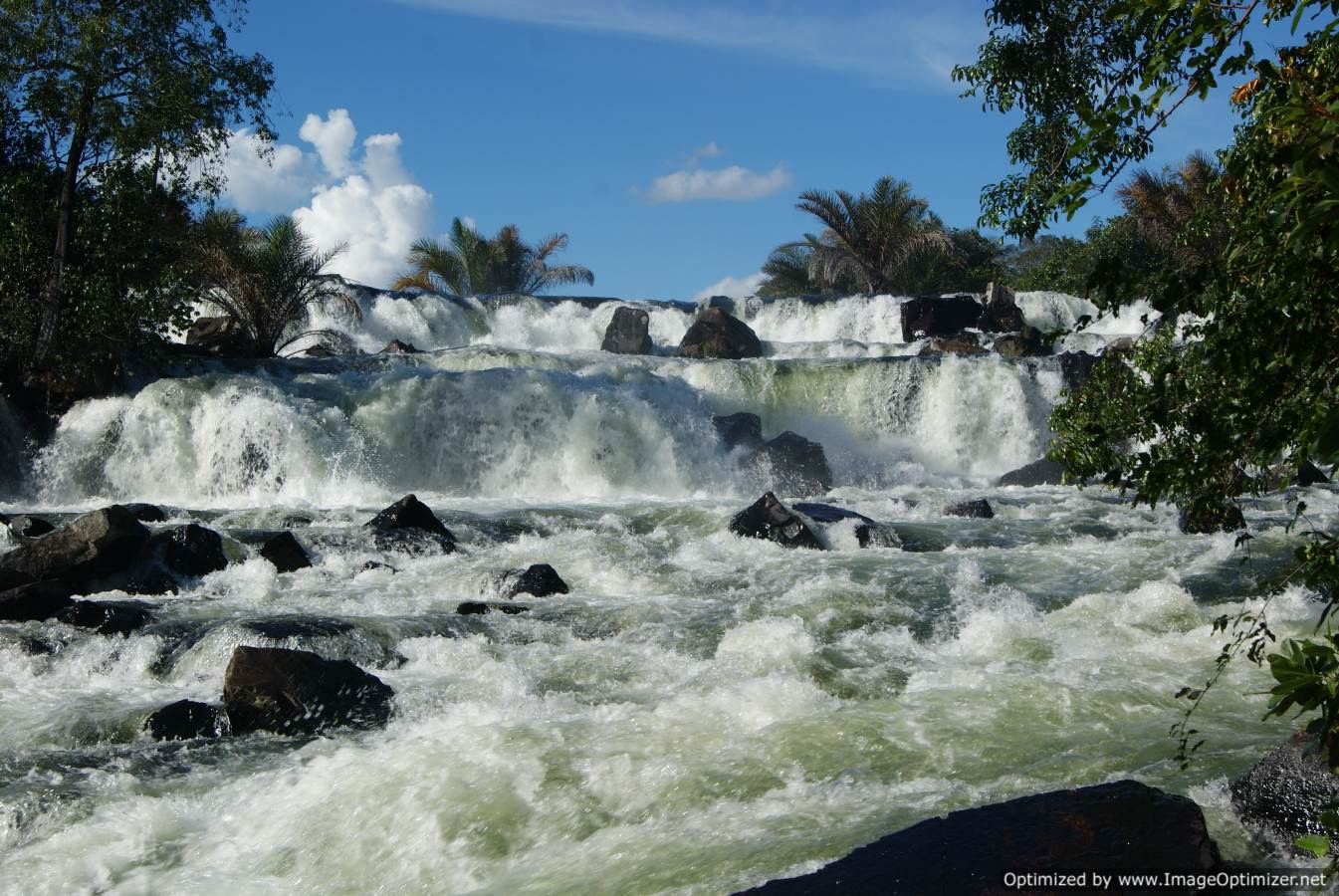 January is the wettest month, meaning that the Zambezi is in full tilt  Credit: Dave and Tanya's African Odyssey