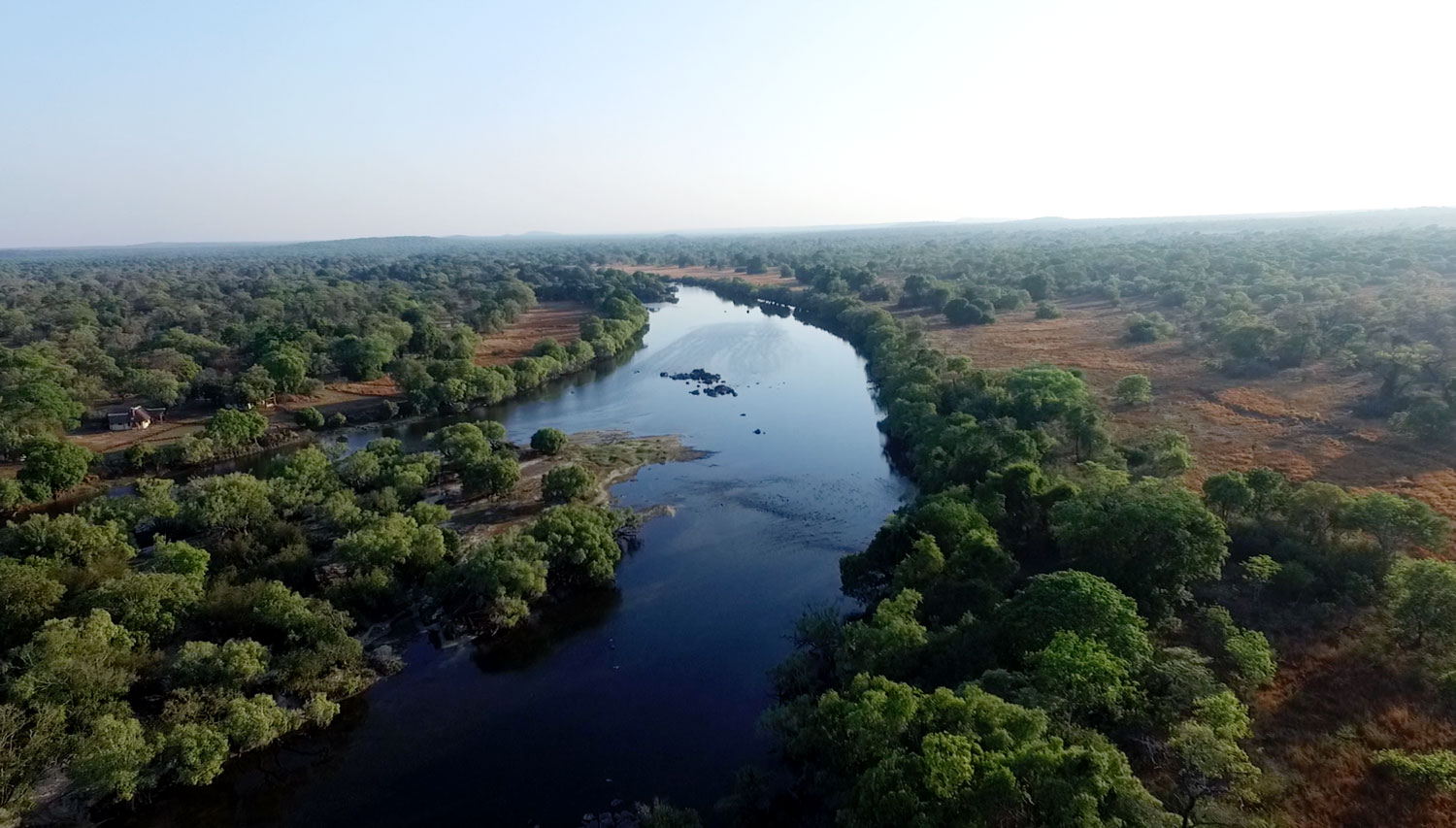 Kafue River in Zambia, credit: Kafue River Lodge